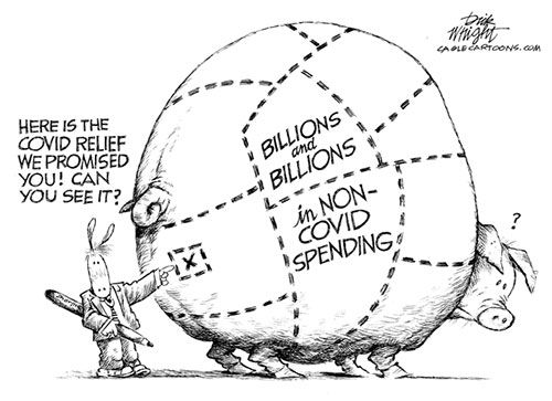 jpg Political Cartoon: Democrats Non Covid Spending Porker