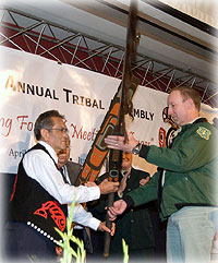 Forest Service Presents Ceremonial Staffs to Central Council