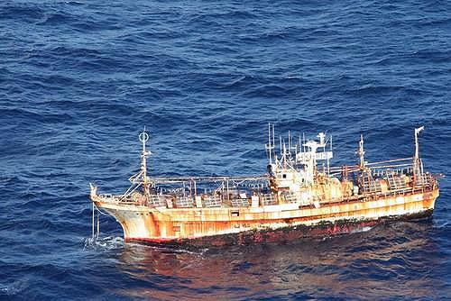 jpg Coast Guard monitors as derelict tsunami fishing vessel enters U.S. waters