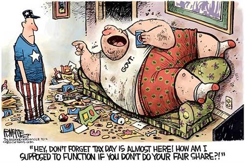jpg Political Cartoon: Tax Day Cometh