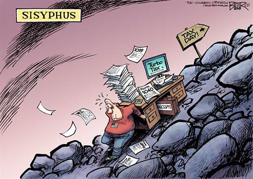 jpg Political Cartoon: Tax Day