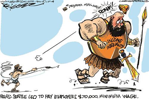 jpg Political Cartoon: $70,000 Minimum Wage