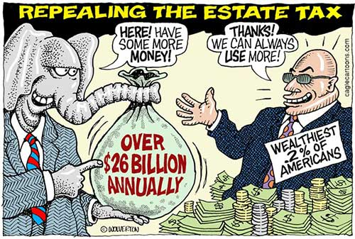 jpg Political Cartoon: Repealing the Estate Tax
