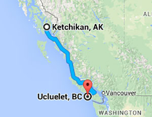 jpg Ucluelet, BC is approximately 900 miles south of Ketchikan, Alaska