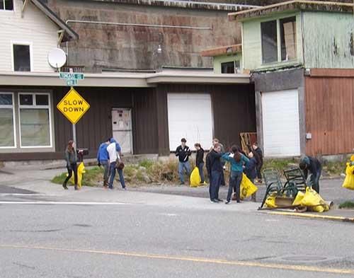 jpg Ketchikan High School students picking up litter in 2014