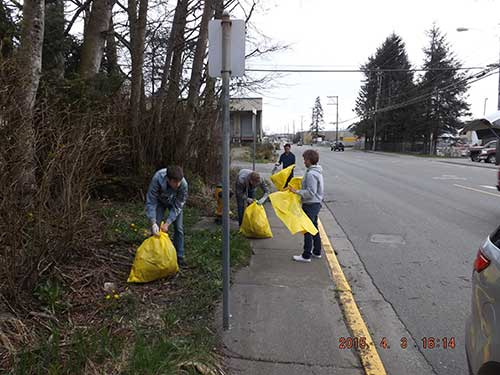 jpg Ketchikan High school track and field squad members cleaning up Tongass by the Bailey power plant