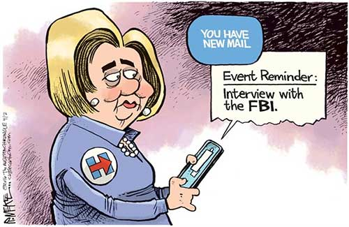 jpg Editorial Cartoon: Hillary's Email Reminder