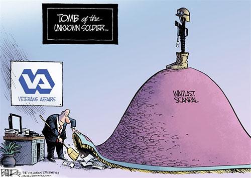 jpg Editorial Cartoon: Vets Mess