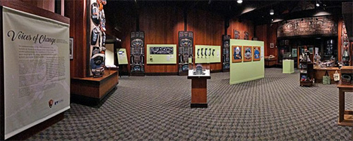 jpg The Voices of Change exhibit fills the Sitka National Historical Park visitor center. The exhibit will remain through November 2017.