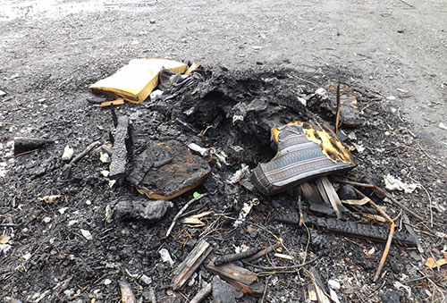 jpg Remains of a burned couch dumped at Whipple Creek