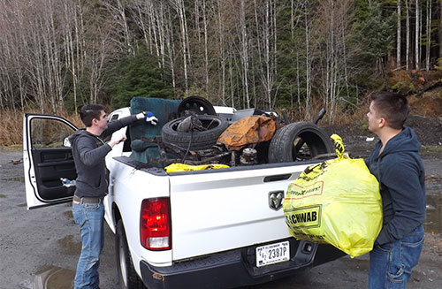 jpg Material collected at Whipple Creek including a burned motorcycle.