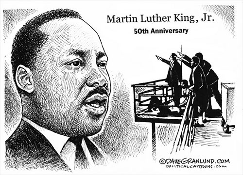 jpg Political Cartoon: 50th Anniversary MLK's Assassination