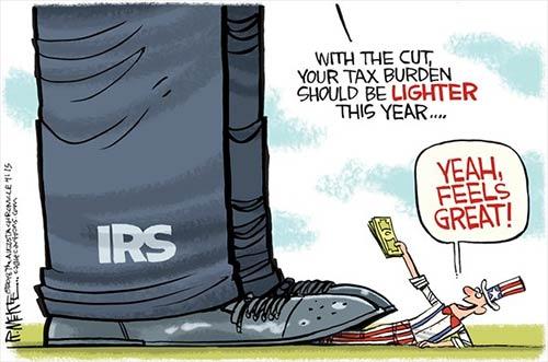 jpg Political Cartoon: IRS Tax Burden