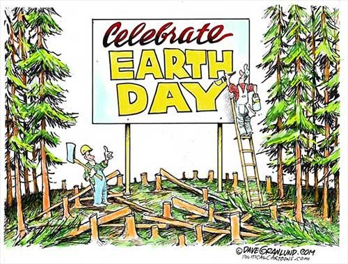 Political Cartoon: Earth Day - April 22, 2018