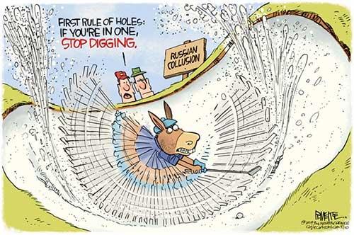 jpg Political Cartoon: Russian Collusion Hole