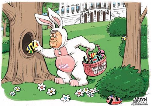 jpg Political Cartoon: AG Barr Hides Redacted Easter Eggs