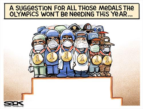 jpg Political Cartoon: Go for the Gold