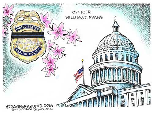 jpg Political Cartoon: Capitol Police Officer Evans' Tribute