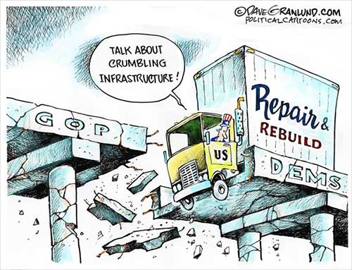 jpg Political Cartoon: Infrastructure repair and rebuild
