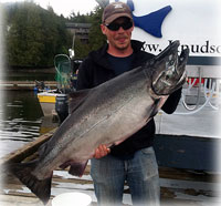 Worman's 49.7 lbs King Leader in Week 1 King Salmon Derby