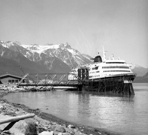 jpg Ferry Columbia at dock at Haines