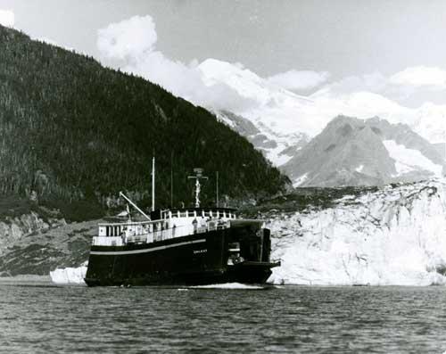 jpg Alaska State Ferry Chilkoot cruising by Columbia Glacier