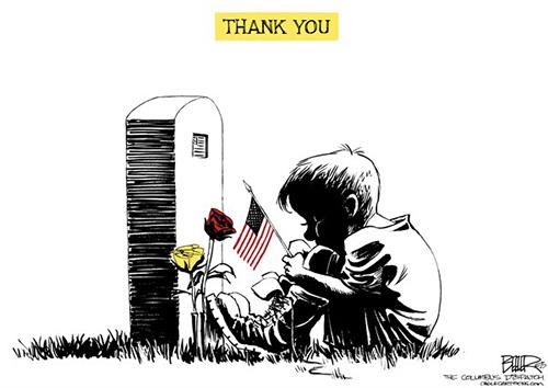jpg Political Cartoon: Memorial Day Thanks
