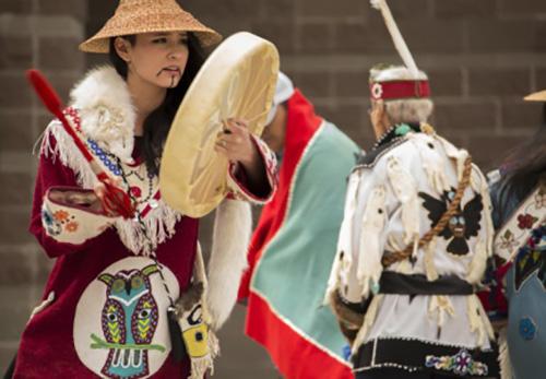 jpg Members of the Mount St. Elias dance group, a Tlingit dance group from Yakutat...