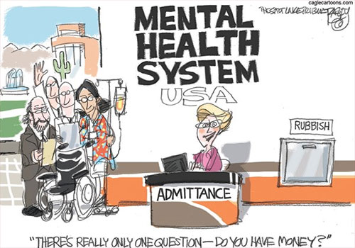 jpg Editorial Cartoon: Crazy Mental Health System