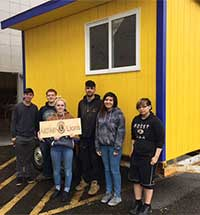 Kayhi Construction Class Builds New Lions' Booth