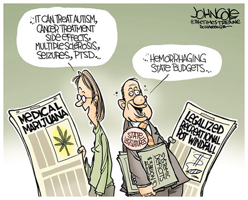 jpg Editorial Cartoon: Leaglized pot and state budgets