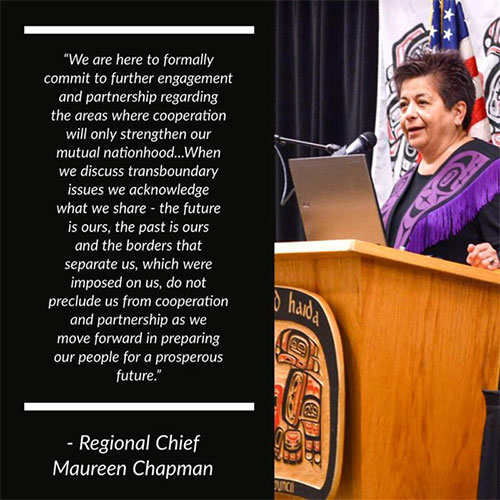 jpg Regional Chief Maureen Chapman who is a Skawahlook First Nation Chief