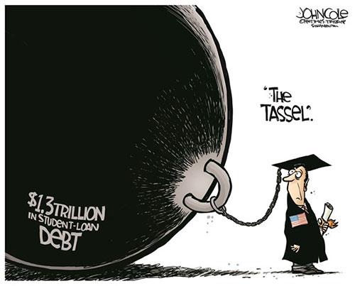 jpg Editorial Cartoon: U.S. student loan debt