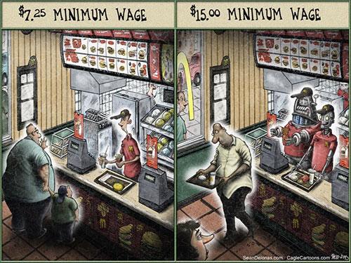 jpg Editorial Cartoon: Robots' Minimum Wage