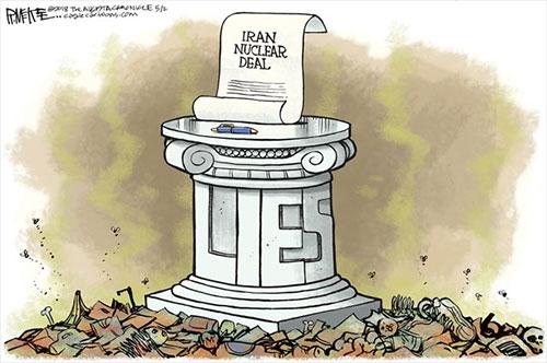 jpg Political Cartoon: Iran Nuke Deal Lies