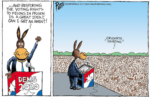jpg Political Cartoon: Voting rights for felons