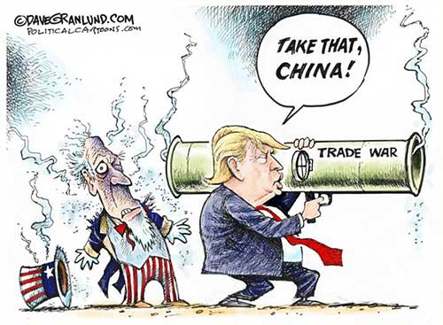jpg Political Cartoon: China and US trade war