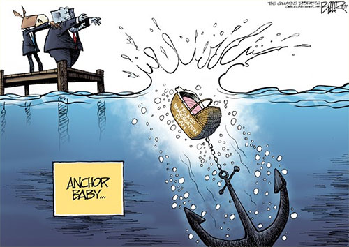 jpg Political Cartoon: Immigration Anchor