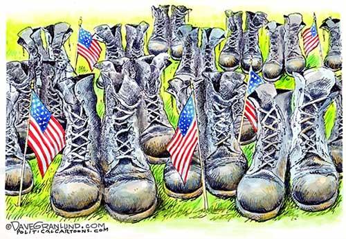 jpg Political Cartoon: Memorial Day, Empty Boots