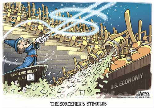 jpg Political Cartoon: Pandemic Relief Fantasia
