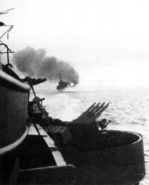 jpg The St. Louis fires a salvo at Kiska during the bombardment of 7 August 1942