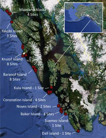 jpg Map of Southeast Alaska Sites
