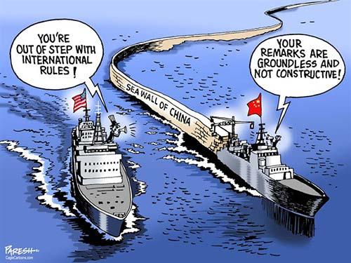 jpg Political Cartoon: South China sea tensions