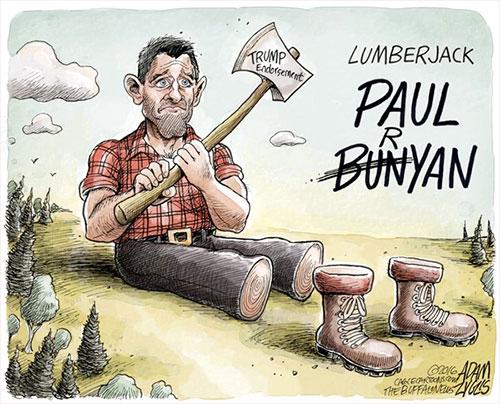 jpg Editorial Cartoon: Ryan's endorsement