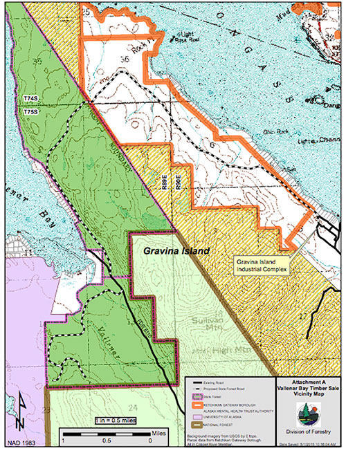 jpg Contract for Vallenar Bay Timber Access Road awarded - Proposed state road