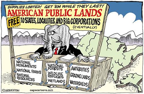 jpg Editorial Cartoon: Giving Away Federal Public Lands