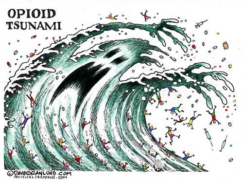 jpg Editorial Cartoon: Opioid tsunami