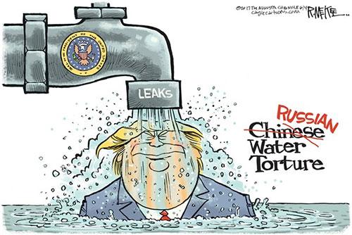 jpg Editorial Cartoon: Trump Leaks