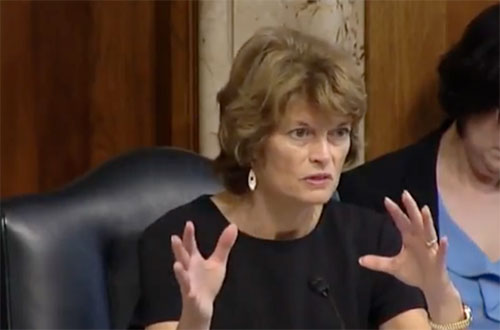 jpg Murkowski today during the hearing to examine the President Trump's budget request for the U.S. Forest Service for Fiscal Year 2018.