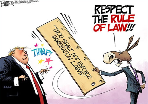 jpg Political Cartoon: Immigration Rule of Law